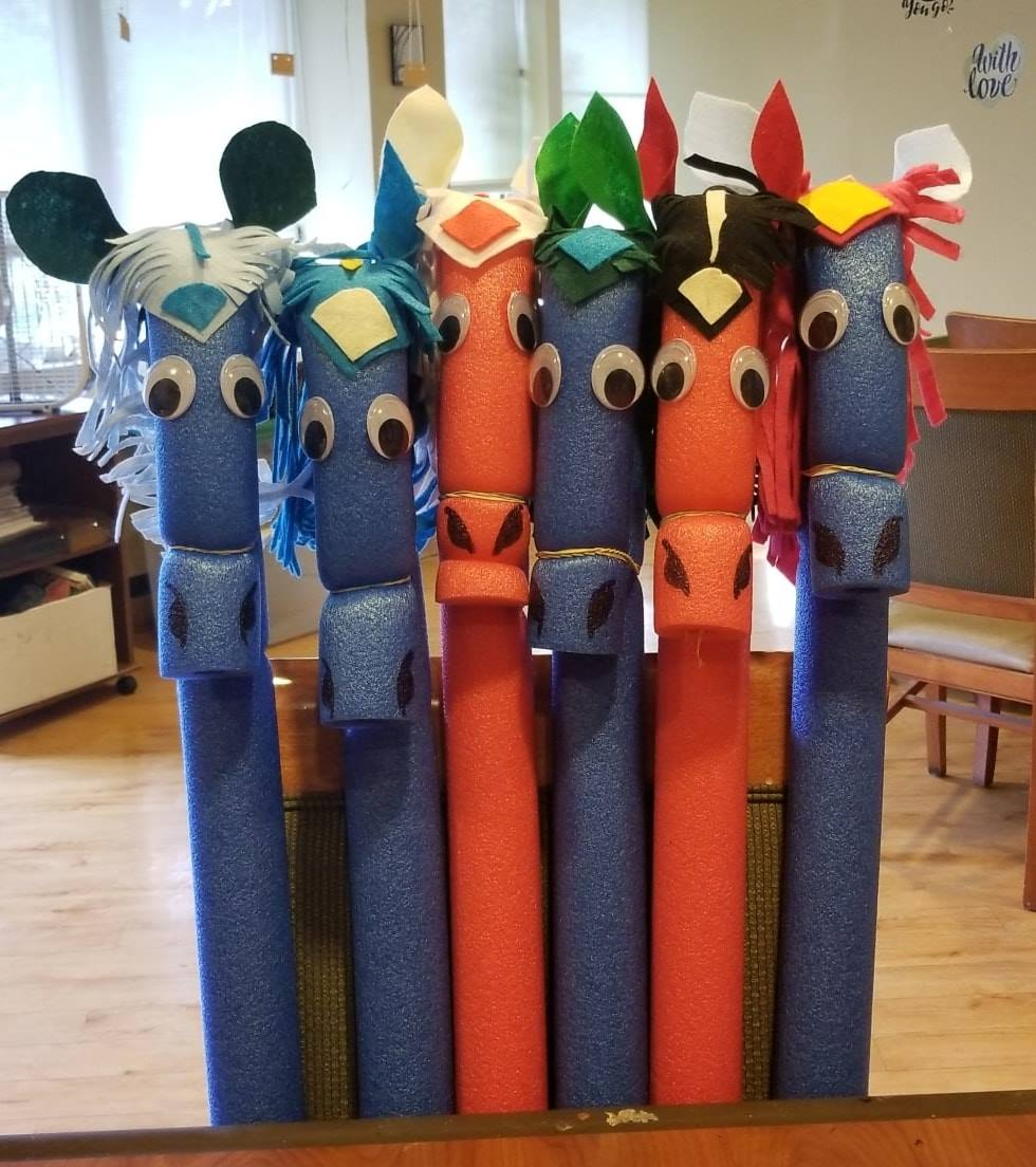 Pool Noodle Horse Race Activities For Seniors